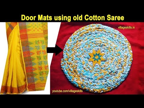 How to make Door mat with old clothes, carpet making easily at home l how to make braided rag rugs