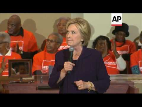 Clinton on campaign trail in South Carolina
