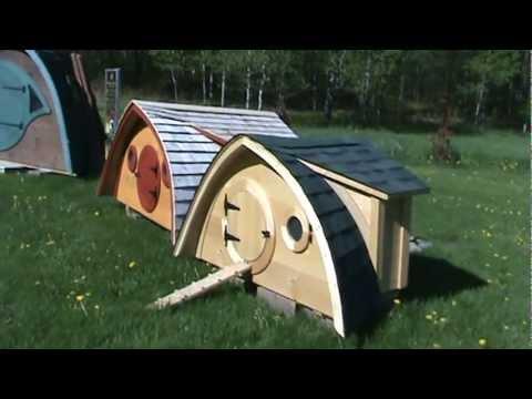 Tour a Hobbit Hole Chicken Coop