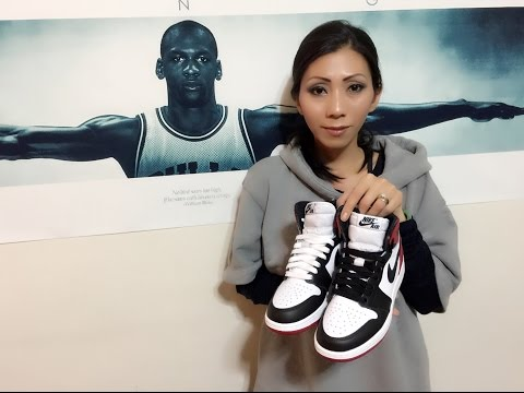Wife's Jordan Retro 1 Black Toe unbox and on feet review!