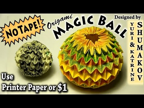 Origami Magic Ball - NO TAPE!!!