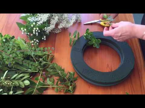 Making a Sympathy Wreath - Seaside Florist