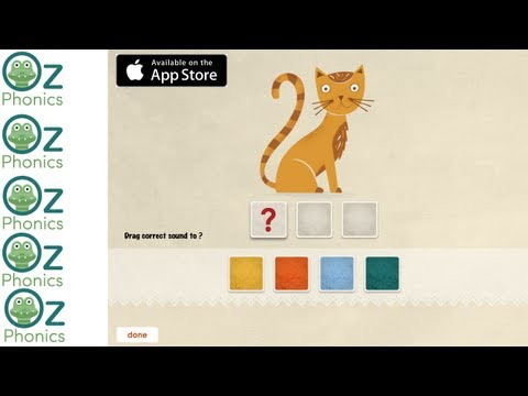 Oz Phonics 1 - Phonemic Awareness and Letter Sounds (American accent demo) for iPad
