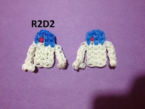 How to Make R2D2 on the Rainbow Loom - Original Design