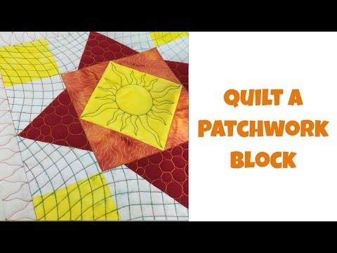 How to Quilt a Diamond Sky Patchwork Block - Beginner Quilting Tutorial with Leah Day