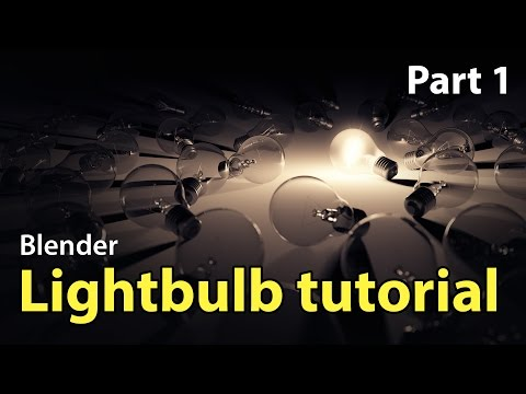 Beginner Blender Modelling Tutorial - Lightbulb Part 1 of 2