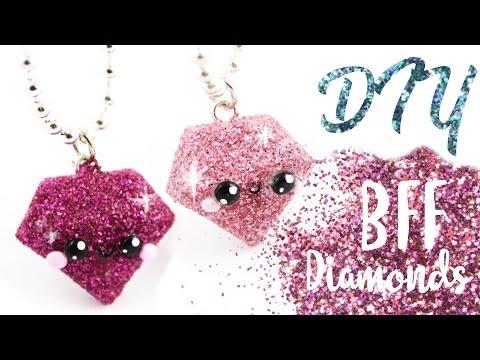 ♡ DIY GLITTER BFF Diamond Charms! ♡ | Kawaii Friday!