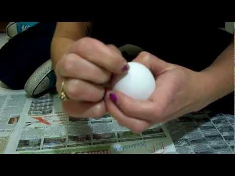 The first step to: Glitter Egg Bombs