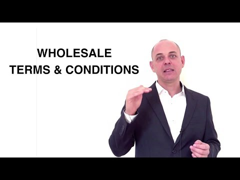Wholesale Terms and Conditions Template Australia