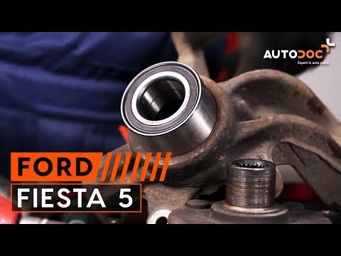 How to replace Front wheel bearing on FORD FIESTA 5 TUTORIAL | AUTODOC