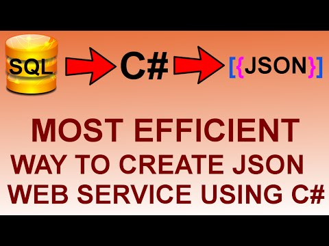 create json web service using c# rest services tutorial