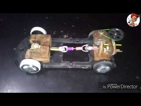 Home made rc car||home made differential car||how to make differential||how to make gear change car
