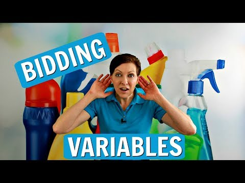 Bidding Variables for House Cleaning Estimates