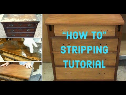 DIY Furniture Refinishing | How To Strip Wood Furniture