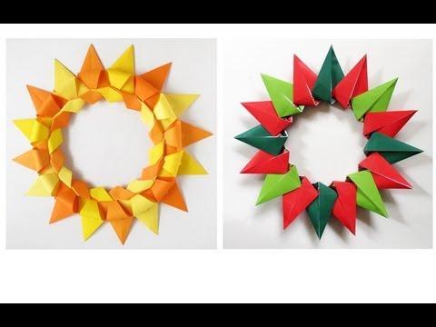 Paper Christmas Wreath -Corona Modular para Navidad