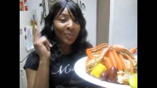 Spicy Steamed Snow Crabs Wgarlic Butter Corn Sausage