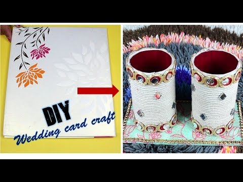 How to reuse old wedding card at home I DIY Best out of waste I Creative Diaries