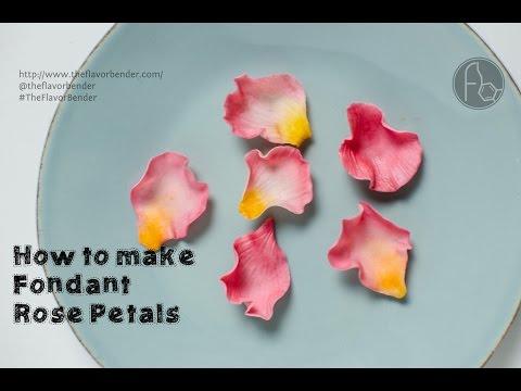How to make Fondant Rose Petals {Tutorial}