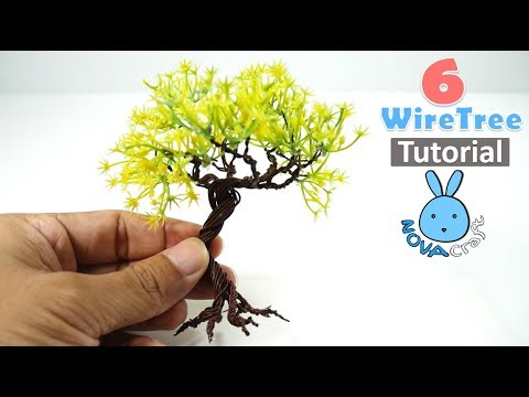 6 DIY Wire Tree Tutorial Miniature tree for Crafting Art and DollHouse