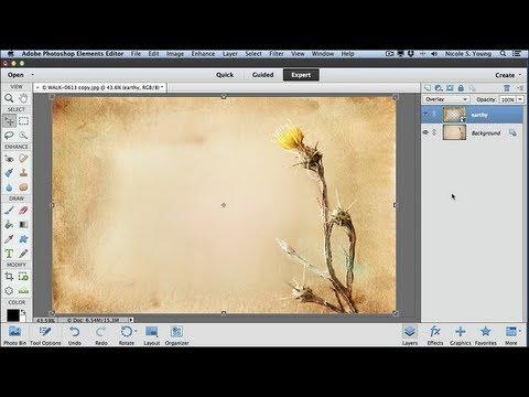 Applying Textures using Adobe Photoshop Elements