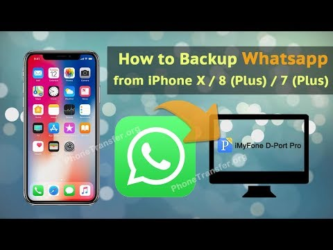 How to Backup WhatsApp from iPhone X / 8 (Plus) / 7 (Plus)