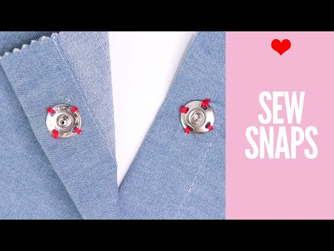 How to Sew on Snaps {Press Studs} : Easy Tutorial for Beginners