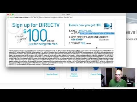 DirecTV referral program