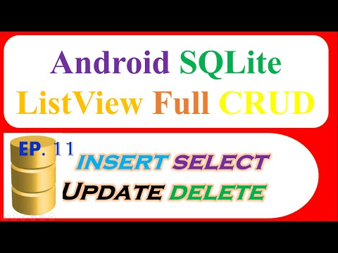 Android SQLite Database Ep.11 : ListView - INSERT,SELECT,UPDATE, DELETE with ContextMenu
