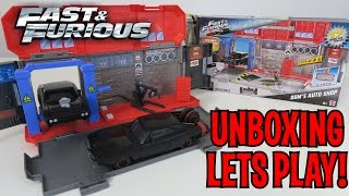 UNBOXING & LETS PLAY - Fast & Furious 8 Dom's Auto Shop by Hot Wheels from Mattel
