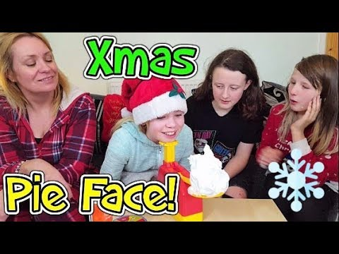 Pie Face Challenge!! Xmas Pie In Face Game!!