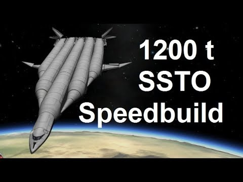 ksp - 1200 ton long range SSTO - speed build