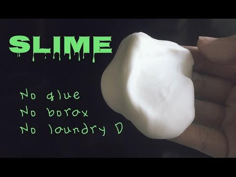 How to make slime w/o glue, borax, & laundry detergent
