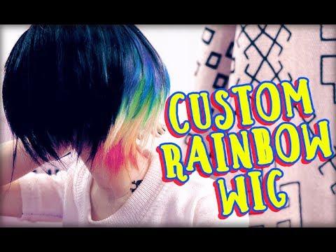 Making a Custom BJD Wig :: Black Rainbow