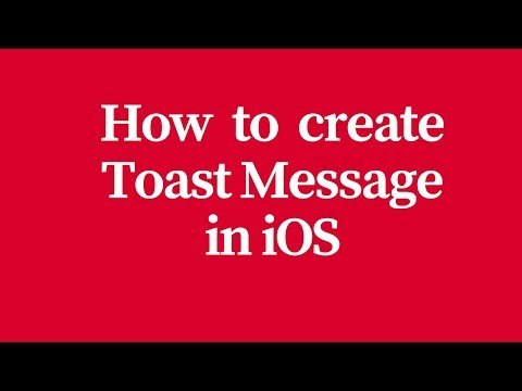 how to create toast message in ios or xcode