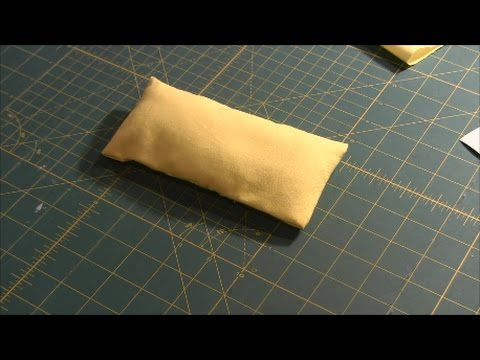 How to make doll pillow for doll bed