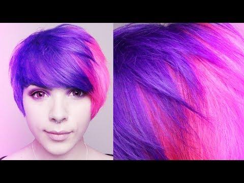 ★ Dye Hair Split Pink / Purple IROIRO ★ ☮ ♡