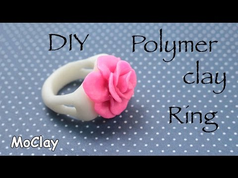 DIY Ring Rose - Polymer clay Jewelry