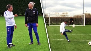 Gianfranco Zola Teaches Jimmy Bullard How To Take PERFECT Free-Kicks!
