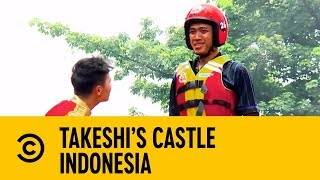 The Tallest Man On Earth with Martin Kemp   Takeshi's Castle Indonesia