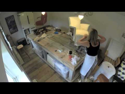 Nursery Chair Upholstery Time Lapse