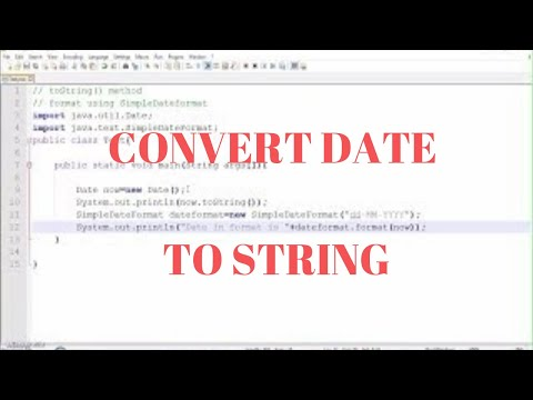 Java Date Time  | How to Convert  Date to String | English | Formatting date using SimpleDateFormat