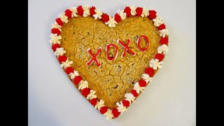 GIANT HEART SHAPED COOKIE | Edible Valentine's Day Gift | DIY Demonstration