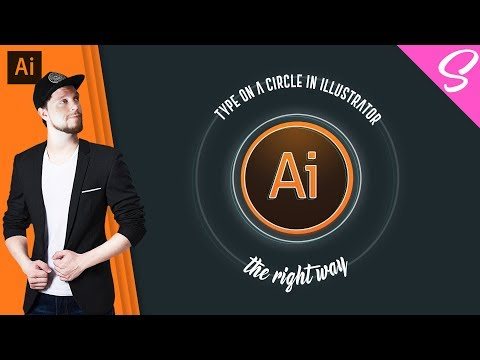 How to type on a circle in Illustrator USEFUL FUNCTION - Type On A Path Illustrator ((BONUS VIDEO))