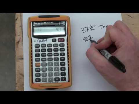 U3 V1   Hip & Jack Rafter Calculations