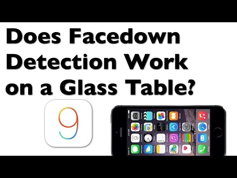 Facedown Dectection for iOS 9 - Does it work on a glass table? In your pocket?
