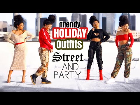 TRENDY HOLIDAY OUTFIT IDEAS | Street & Party | jasmeannnn