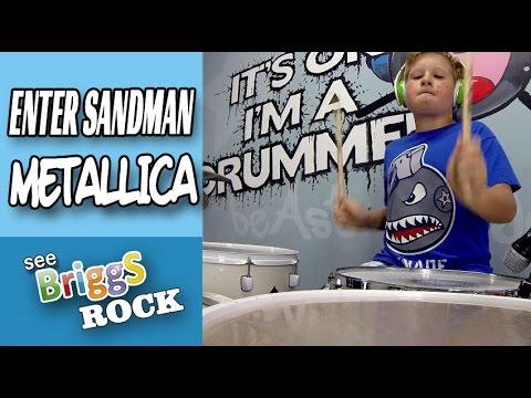 Enter Sandman Metallica Drum Cover See Briggs Rock