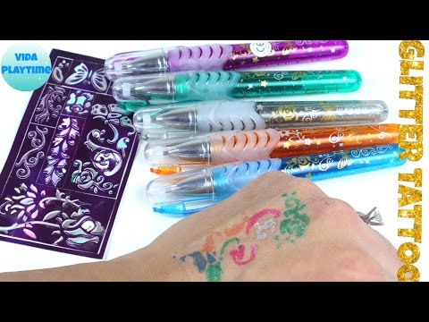 How to make a Glitter Tattoo at home for kids - Arts and Crafts
