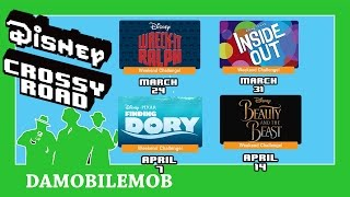 ★ Disney Crossy Road UPCOMING WEEKEND CHALLENGES Previews (Beauty and the Beast Update)