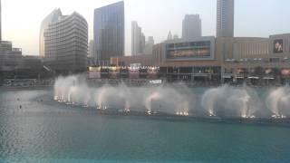 Dubai Fountain Show Arabic Tune) Day 06 08 2013